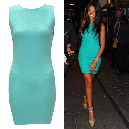 Michelle Keegan Green Dress