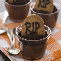 Halloween recipes: RIP chocolate pots