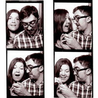 Photobooth Couple, Becky Kidner and Matt Taylor