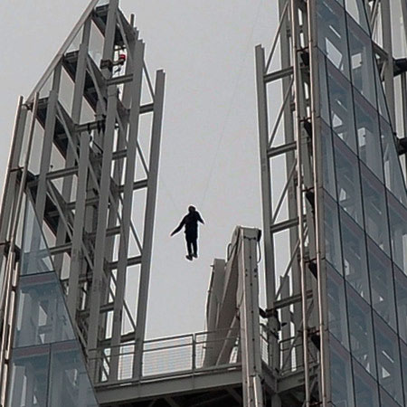 Dynamo caught out in Shard levitating stunt