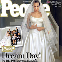 Brad Pitt and Angelna Jolie wedding Exclusive - People magazine cover Sep 15th 2014