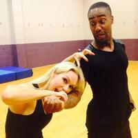 Kristina Rihanoff and Simon Webbe behind the scenes at Strictly