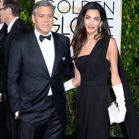 George Clooney and Amal Clooney at the 72nd Annual Golden Globe Award at the Beverly Hilton Hotel on January 11, 2015