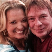 Adam Woodyatt posts a picture with Gillian Taylforth on his Twitter page